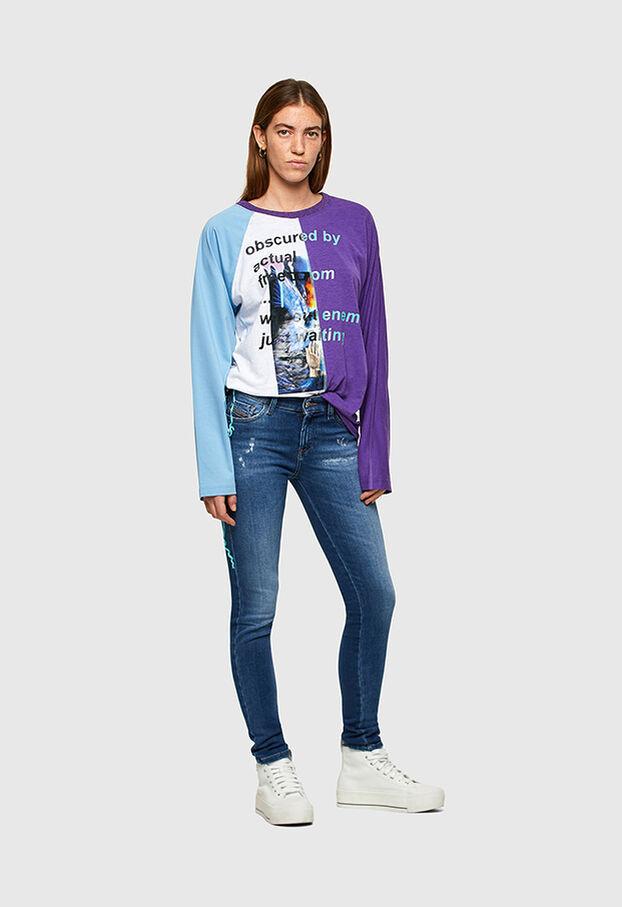 Slandy 009PU, Mittelblau - Jeans