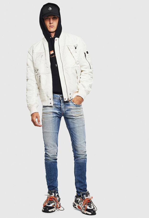 Sleenker 009AF, Mittelblau - Jeans