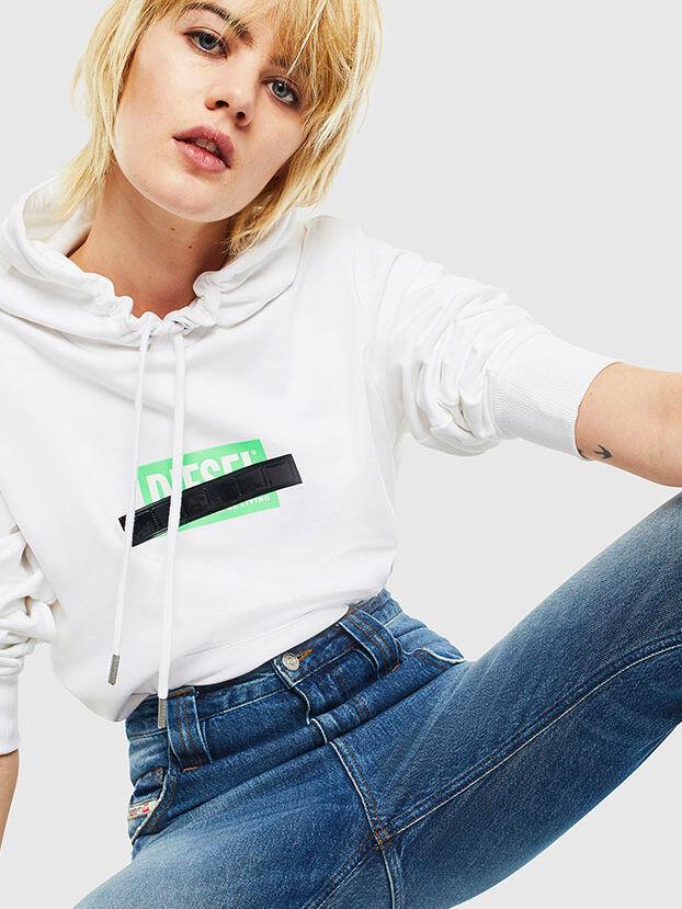 S-GIRK-HOOD-S1, Weiß - Sweatshirts