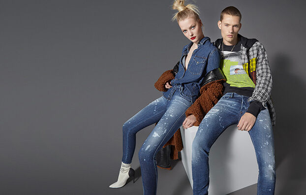 Sleenker 0091Y, Mittelblau - Jeans