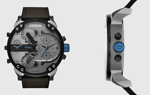 DZ7420, Schwarz/Blau - Uhren