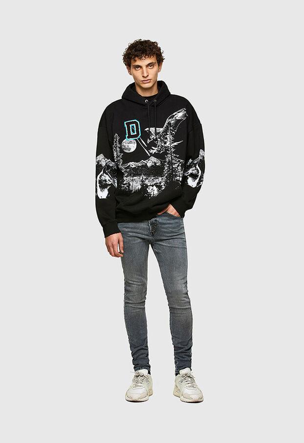 D-REEFT JoggJeans® 069RD, Schwarz/Dunkelgrau - Jeans