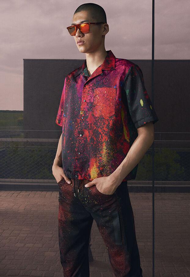 S-MOOL, Rot/Schwarz - Hemden