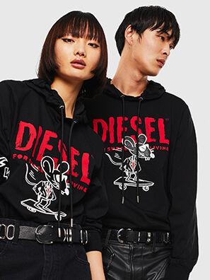 CL-T-JUST-LS-HOOD, Schwarz - T-Shirts