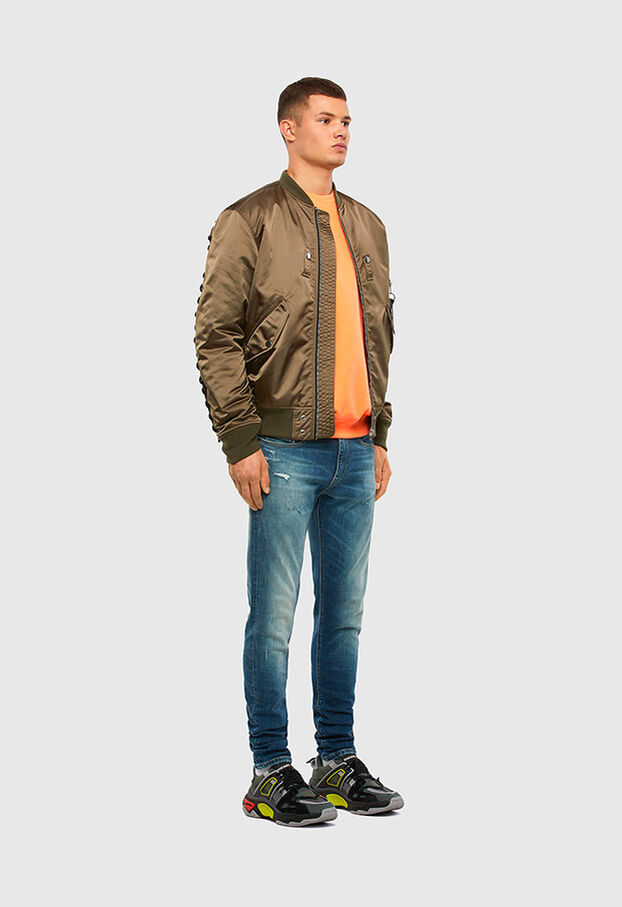 D-Strukt 009IT, Mittelblau - Jeans