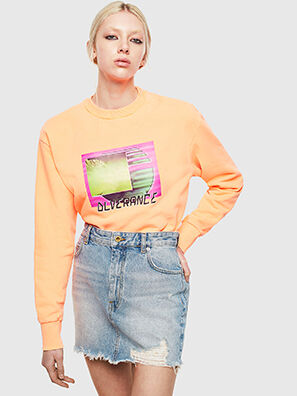 S-BIAY-FLUO, Orange - Sweatshirts