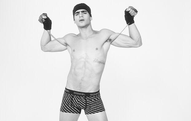 UMBX-DAMIEN, Schwarz/Weiß - Boxershorts