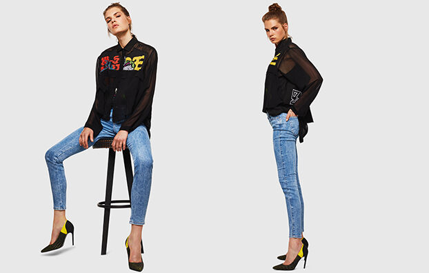 Gracey JoggJeans 0870P, Hellblau - Jeans