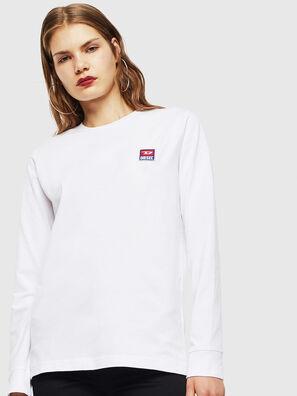 T-DIEGO-DIV-LS, Weiß - T-Shirts