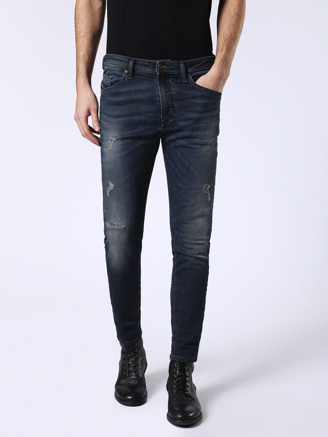 Diesel - Spender JoggJeans 0678L, Dunkelblau - Jeans - Image 1