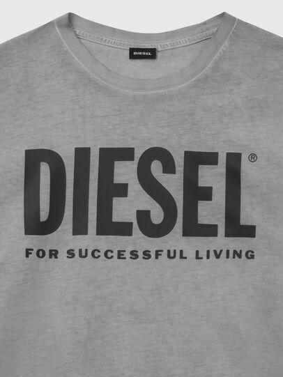 Diesel - T-DIEGO-LOGO, Dunkelgrau - T-Shirts - Image 3