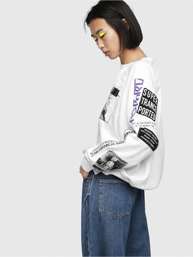 Diesel - F-JUSTY, Weiß - Sweatshirts - Image 3