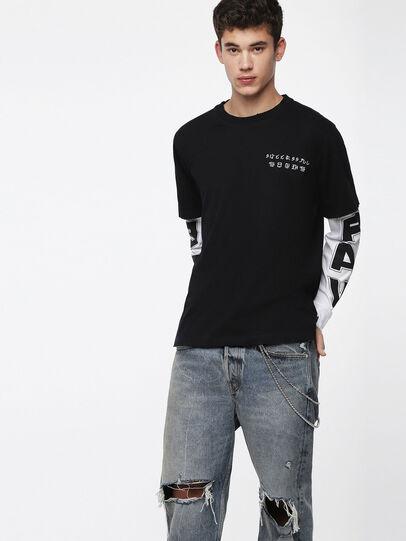 Diesel - T-SOUND, Schwarz - T-Shirts - Image 1