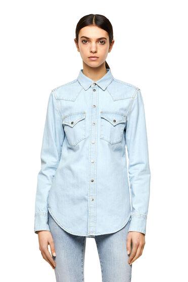 Hemd im Western-Style aus Stonewash-Denim