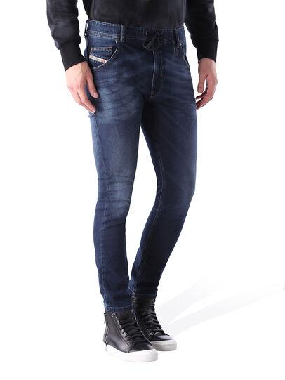 Diesel - Krooley JoggJeans 0848K, Dunkelblau - Jeans - Image 1