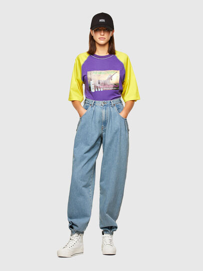 Diesel - T-SPO, Violett/Gelb - T-Shirts - Image 4