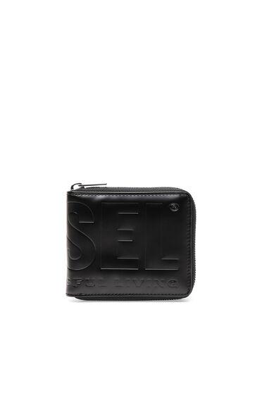 Portemonnaie aus Kunstleder mit umlaufendem Reißverschluss