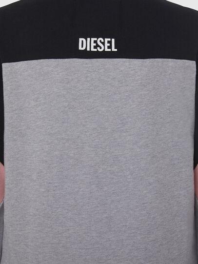 Diesel - UFLT-PHYLOSH, Grau/Schwarz - Sweatshirts - Image 4