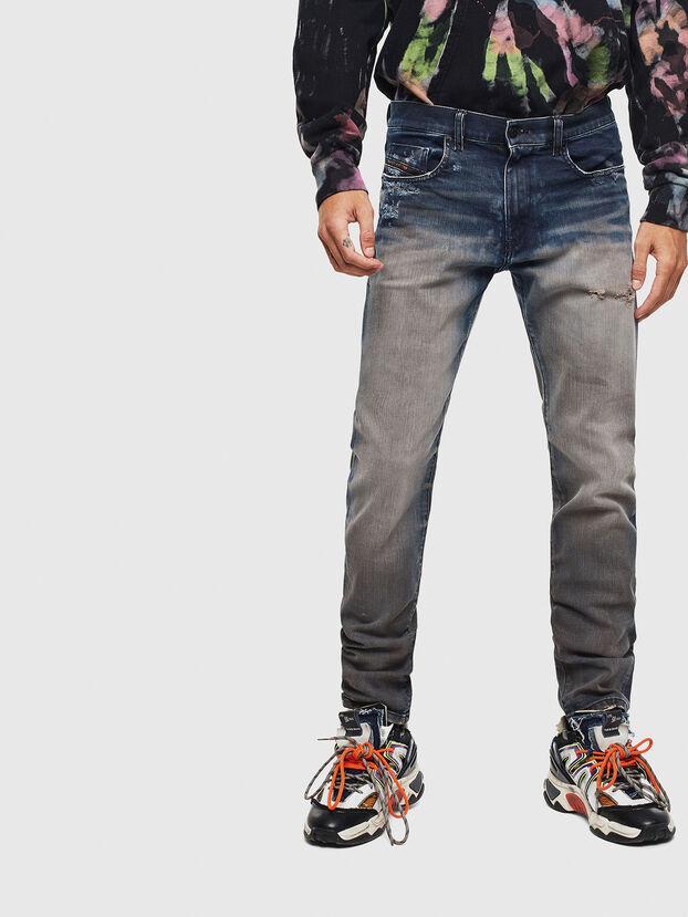 D-Strukt 0097Q, Mittelblau - Jeans