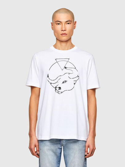 Diesel - CL-T-JUST-O, Weiß - T-Shirts - Image 1