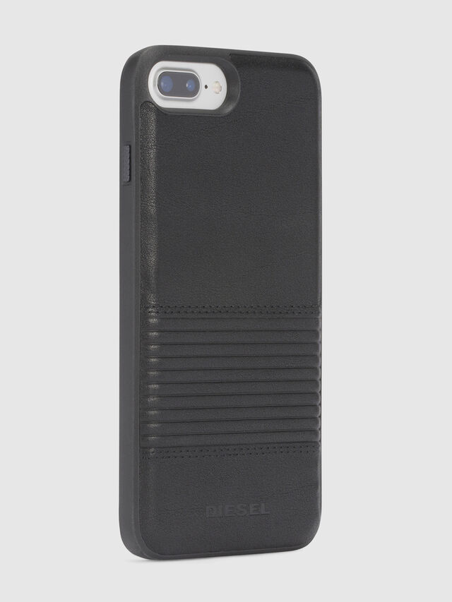 Diesel BLACK LINED LEATHER IPHONE 8/7/6s/6 CASE, Schwarz - Schutzhüllen - Image 5