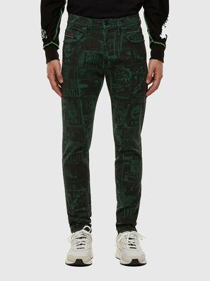 D-Strukt 009GB, Dunkelgrün - Jeans