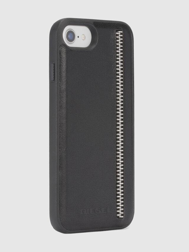 Diesel - ZIP BLACK LEATHER IPHONE 8 PLUS/7 PLUS/6s PLUS/6 PLUS CASE, Schwarz - Schutzhüllen - Image 5