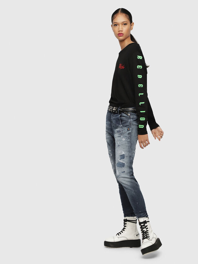 Diesel - Fayza JoggJeans 069CC, Dunkelblau - Jeans - Image 4