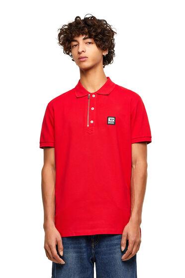 Poloshirt aus Baumwollpiqué mit Reißverschlussdetail