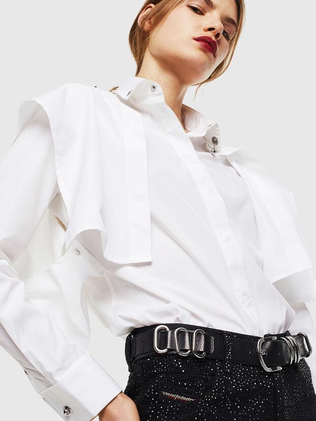 C-RAILY-SHAPED, Weiß - Hemden