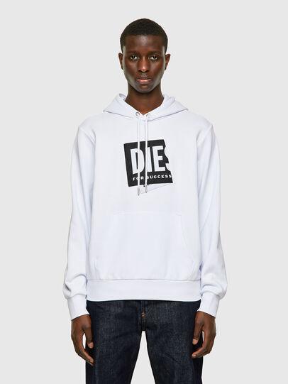 Diesel - S-GIRK-HOOD-LAB, Weiß - Sweatshirts - Image 1