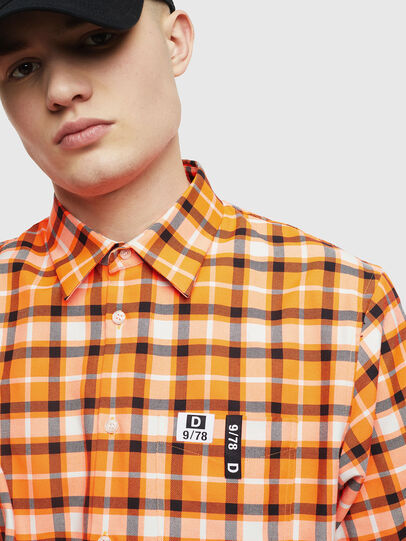 Diesel - S-ATWOOD-A, Orange - Hemden - Image 3