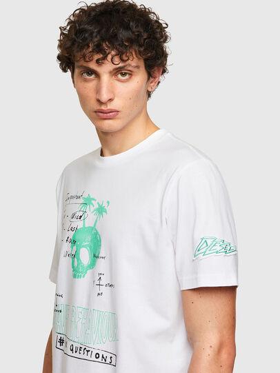 Diesel - T-JUST-B61, Weiß - T-Shirts - Image 5