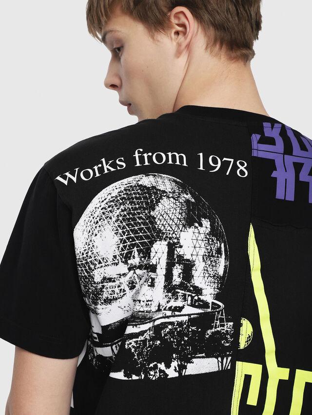 Diesel - T-WALLACE-CUT, Schwarz - T-Shirts - Image 3