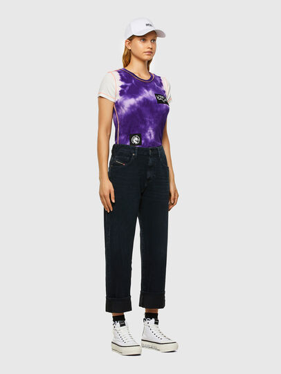 Diesel - T-SUPERY-V10, Weiss/Violett - T-Shirts - Image 6