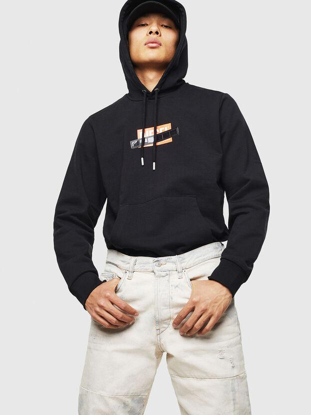 S-GIRK-HOOD-S1, Schwarz - Sweatshirts