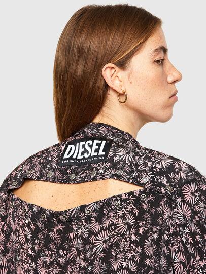 Diesel - D-SUPER-H-LONG, Schwarz/Violett - Kleider - Image 3