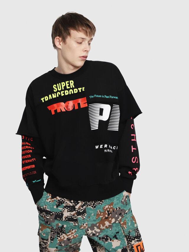 Diesel - S-TAKEO, Bunt/Schwarz - Sweatshirts - Image 1