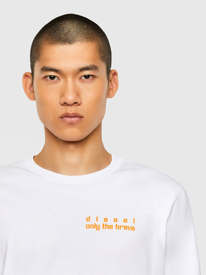 Diesel - T-JUST-LS-N64, Weiß - T-Shirts - Image 3
