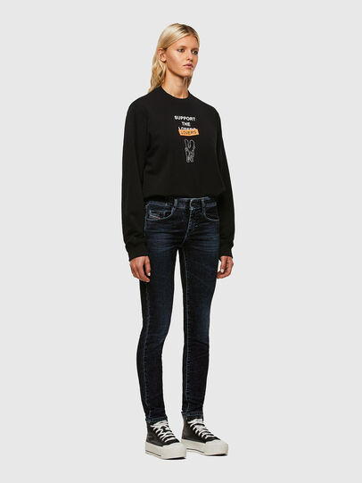 Diesel - D-Ollies JoggJeans® 069UH, Schwarz/Dunkelgrau - Jeans - Image 5