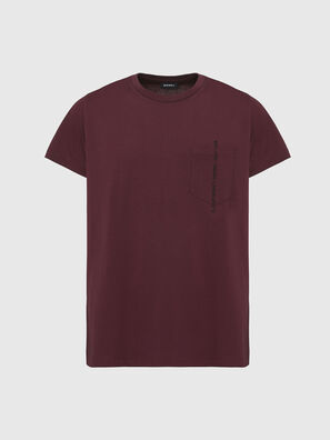 T-RUBIN-POCKET-J1, Rot - T-Shirts