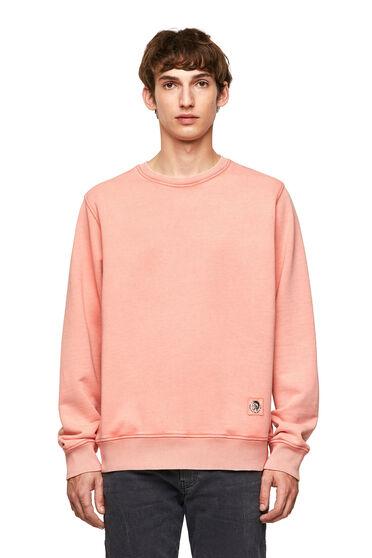 Stückgefärbtes Sweatshirt mit Aufnäher