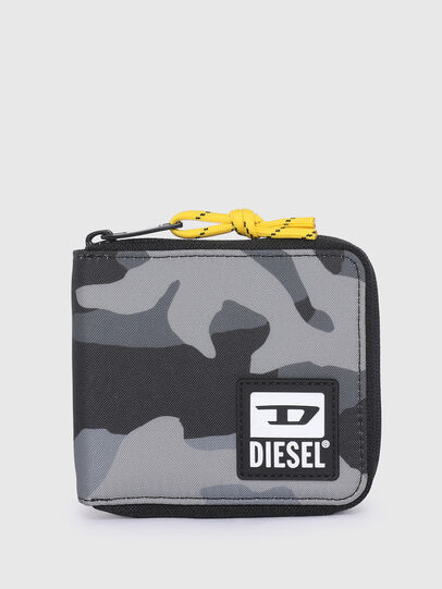 Diesel - ZIPPY HIRESH S II, Grau/Schwarz - Portemonnaies Zip-Around - Image 1