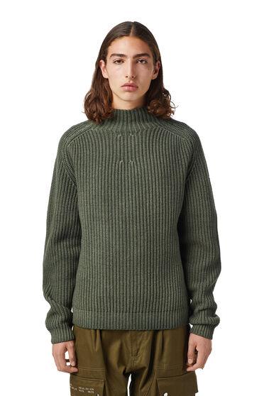 Pullover mit Zierkragen aus Wollmischgewebe