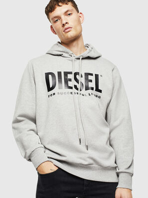 S-GIR-HOOD-DIVISION-, Grau - Sweatshirts
