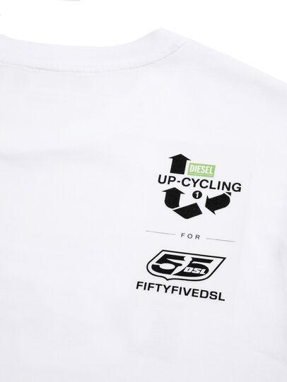 Diesel - D-55LOGO, Weiß - T-Shirts - Image 4