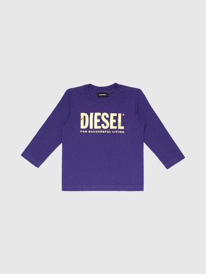 Diesel - TJUSTLOGOB-FL ML-R, Violett - T-Shirts und Tops - Image 1