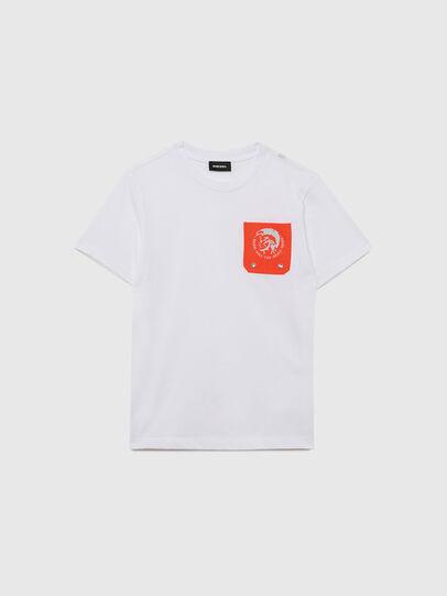 Diesel - TLARS, Weiss/Orange - T-Shirts und Tops - Image 1
