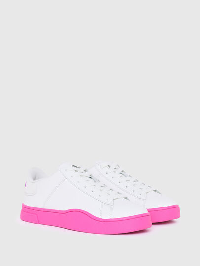 Diesel - S-CLEVER LOW LACE W, Weiss/Rosa - Sneakers - Image 2