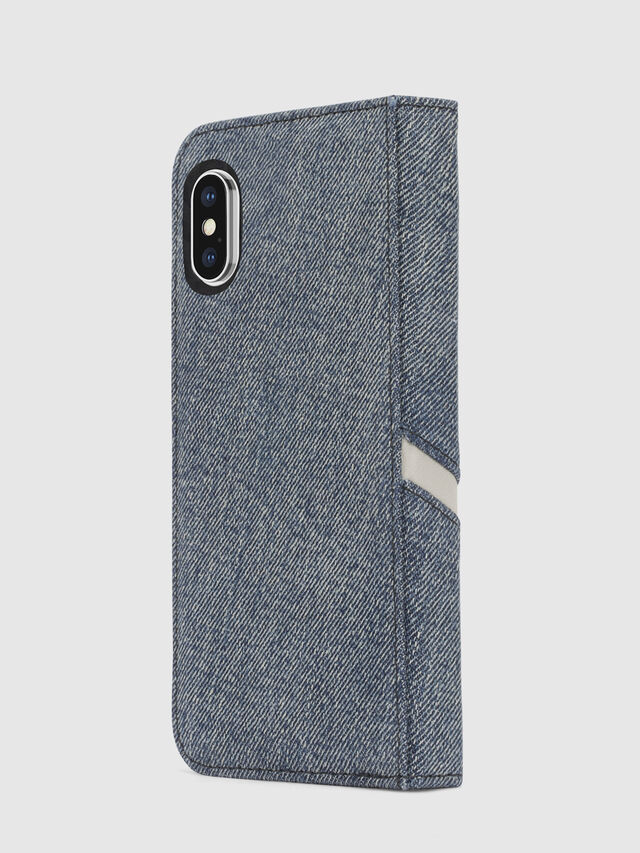 DENIM IPHONE X FOLIO, Jeansblau